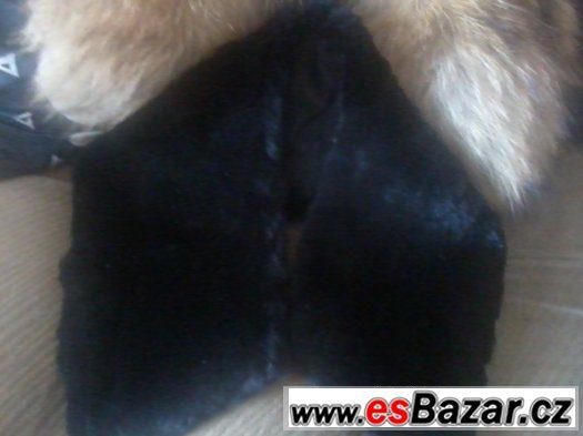 kožešinový límec černý
