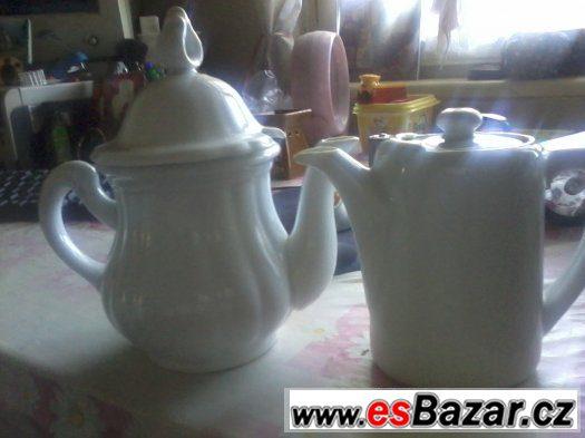 Porcelánová konvička a mlékovka