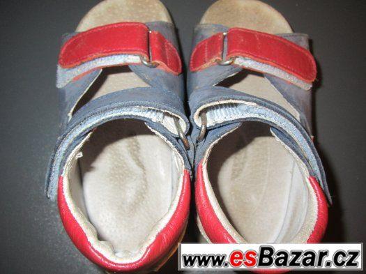Kožené chlapecké sandály,vel. 23, PK Rega