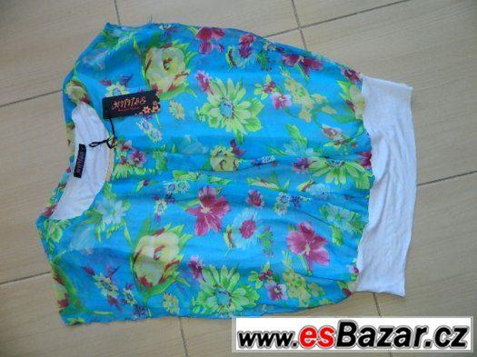 Nový top, tričko, tunika velké kytky