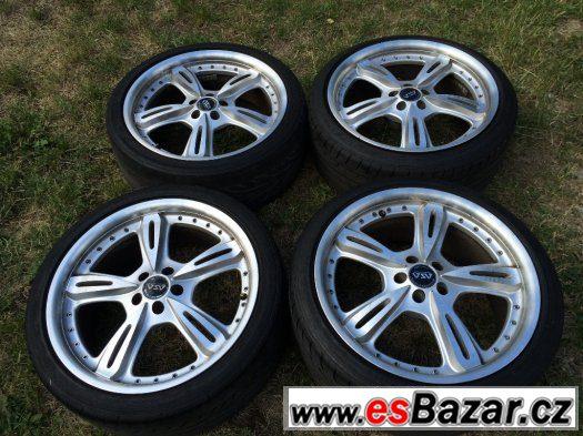 Prodám ALU kola R18 5x100 s letní pneu DUNLOP