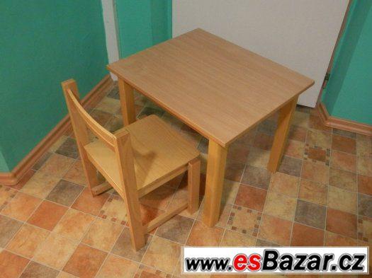 stolek se židličkou