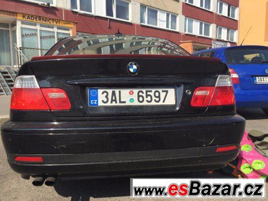 BMW E46 coupe odtrhová hrana víka kufru