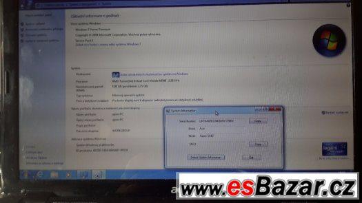 notebook Acer Aspire 5542