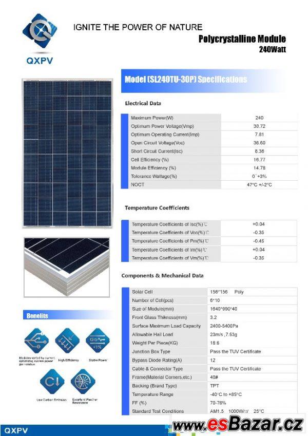 Ostrovní fotovoltaický systém1,5kWp
