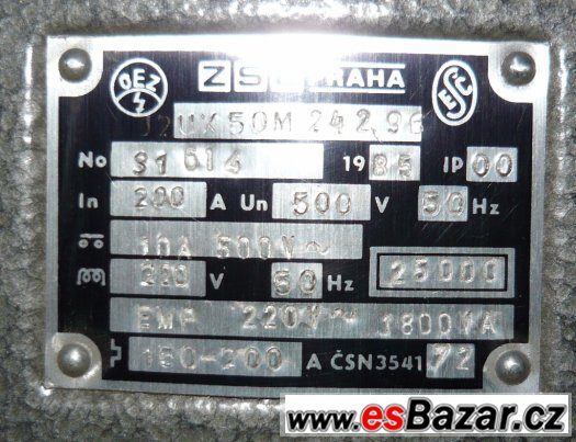 J2UX 50M  nepoužité jističe