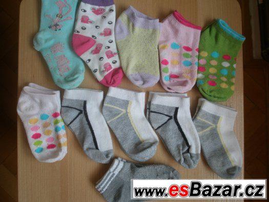 Bavlněné ponožky pro 2leté dítko