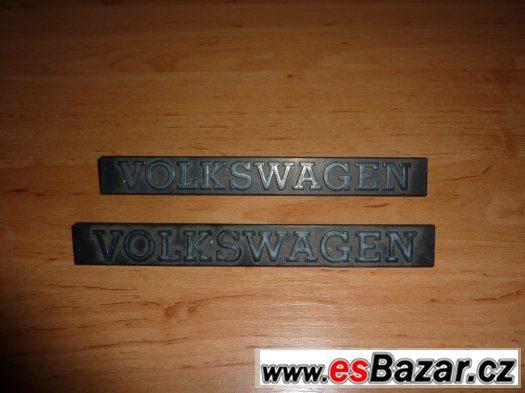 2x nápis Volkswagen