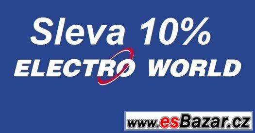 poukázky do ElectroWorld se slevou 10%