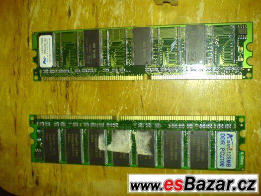 Prodám tyto ram paměti 2x ddr-266 128mb