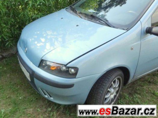 Kapota Fiat Punto II, 09/99 - 05/03 - Poškozená