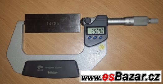 Mikrometr 75 - 100 mm digitální IP65 Mitutoyo