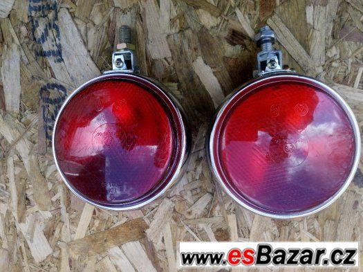 Světla mlhové kulaté červené