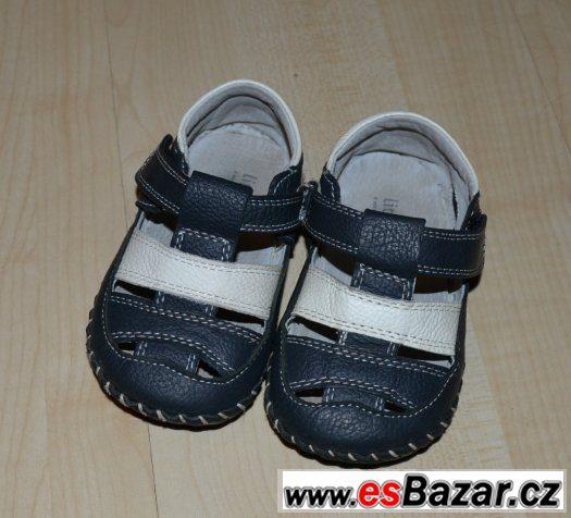 Celokožené sandálky Little blue lamb - baby, 18-24 měsíců