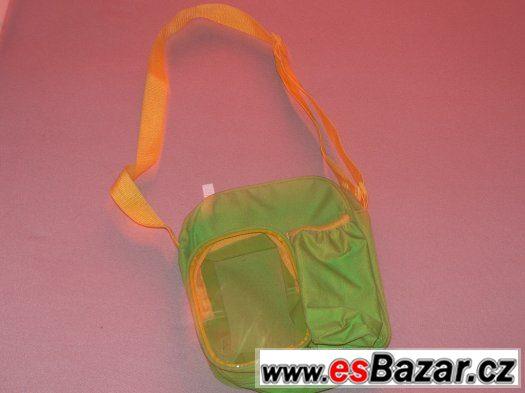 Vycházková taška se zipy a průhlednou kapsičkou
