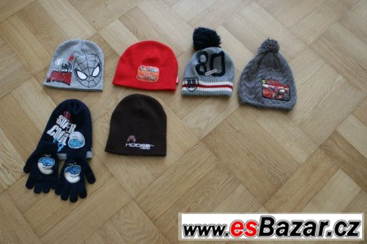6ks zimní čepice