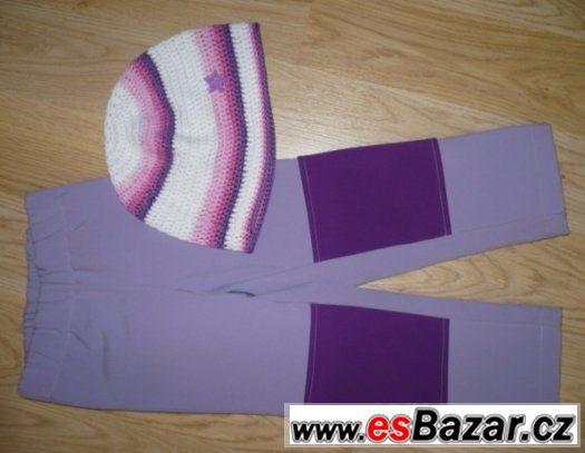 Super softshelové kalhoty-podšité nepromokavé vel.92