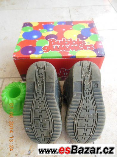 Kotníčkové boty hnědé Bubble gummers vel. 20