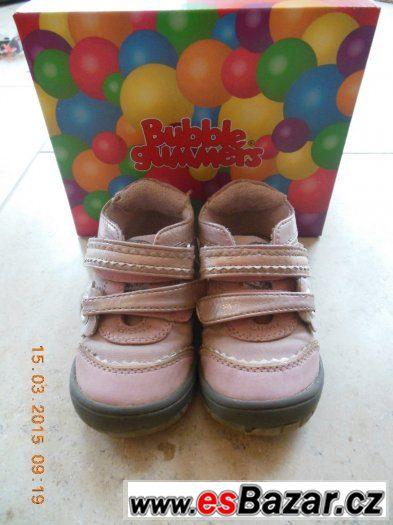 Kotníčkové boty růžové Bubble gummers vel. 23