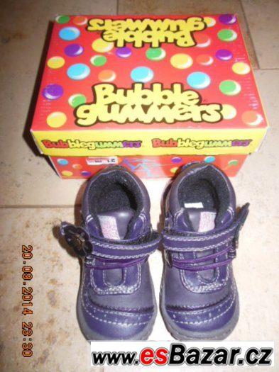 Zateplené boty fialové Bubble gummers vel. 21
