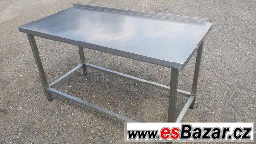 Nerezový stůl 150x70x85 s lemem
