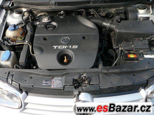 VW golf 1,9TDI 4motion