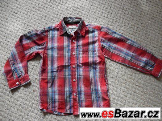 Prodám chlapeckou  košili  vel.116, CaA