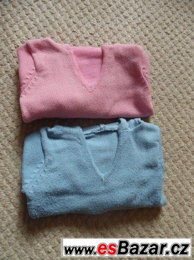 Prodám  svetry po dvojčatech  vel.116- cena  za  oba
