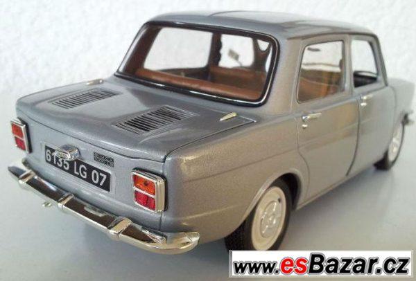 Kovový model Simca 1000 LS 1/18