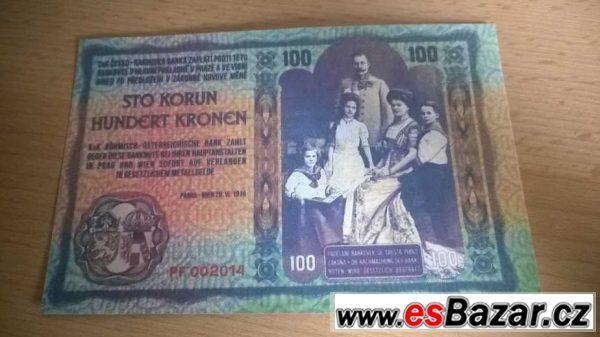 Kopie nevydaných bankovek - návrh