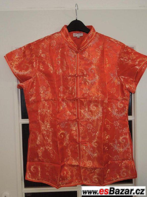 Klasická čínská halenka červená