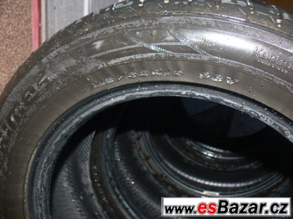 Letní pneu 2ks 215/55 R 16 rok 2013