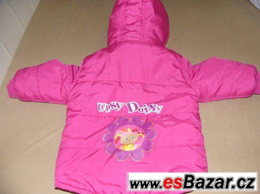 Pěkná zimní bunda s Upsy Daisy, vel.2-3 roky