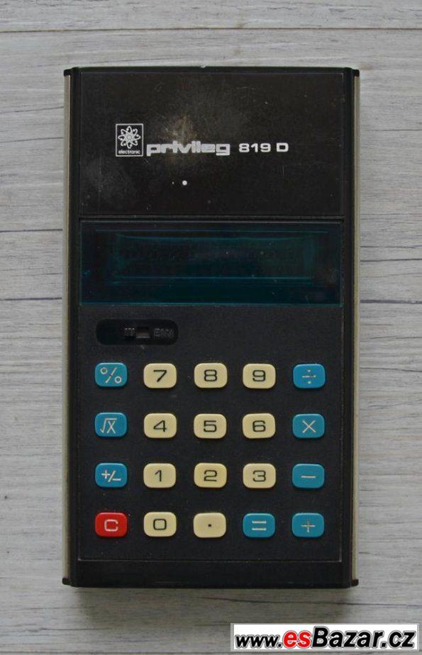 Historická kalkulačka Privileg 819D