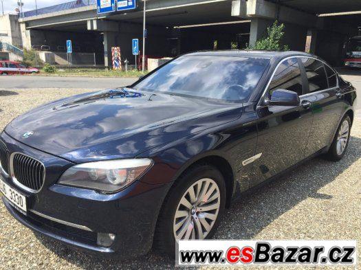 BMW 750i, r.v. 2009/10, plný výbava, odpočet DPH,modrá barva