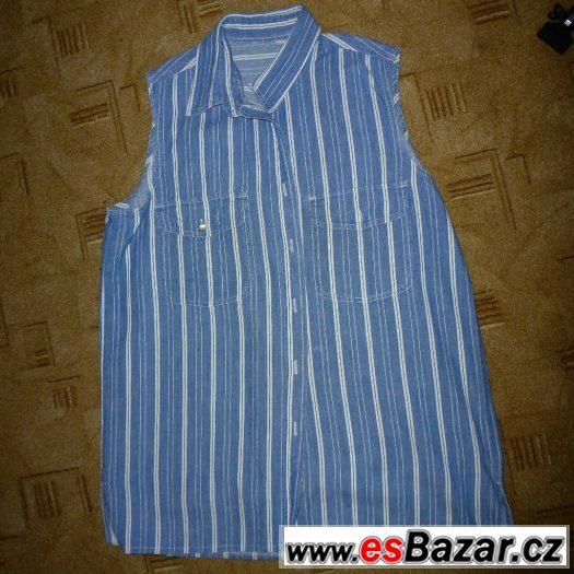 Tři halenky/košile bez rukávů