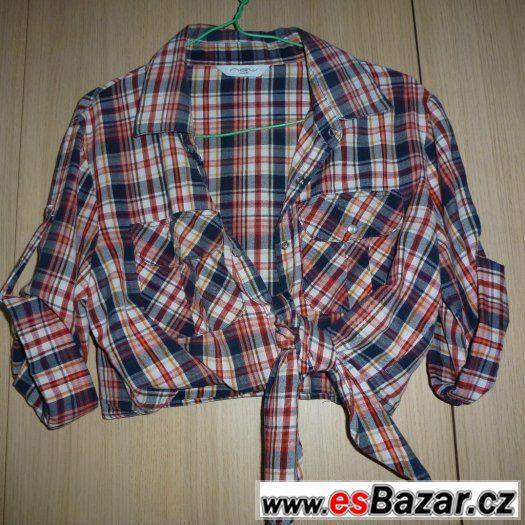 Halenka /top/ letní šaty/ tílko červené se zipy