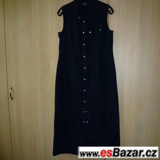 Tmavě modré propínací šaty; námořnické