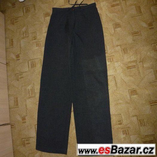Letní kalhoty; jednoduché pláťáky šedivé