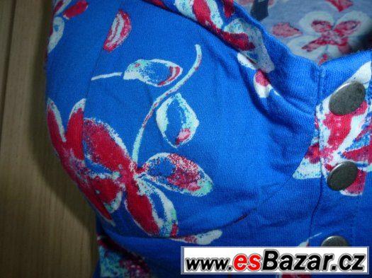Halenka – tílko modrá s květy