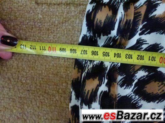 Tygrovaná dlouhá sukně/šaty