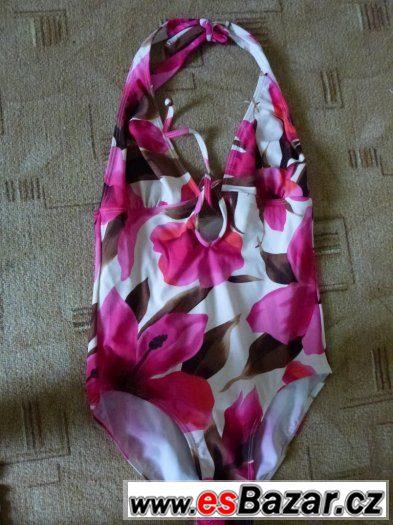 Plavky jednodílné květované