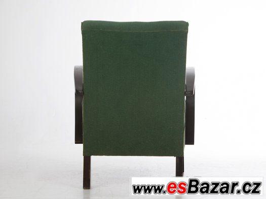 Zelená křesla Halabala 2ks.