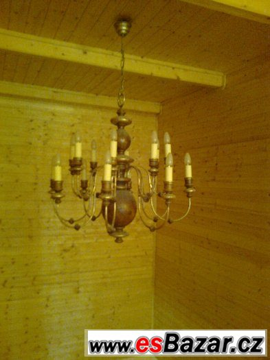 PRODÁM LUSTR + 2 ks LAMPA