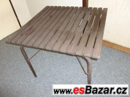 Zahradní stolek skládací 82x82x63 cm