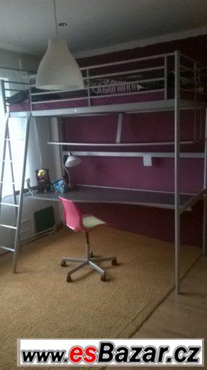 Patrová postel IKEA, SVÄRTA, kovová, 2 kusy