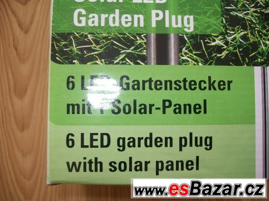 Solární světlo LED zahradní bodec  nerozbalený