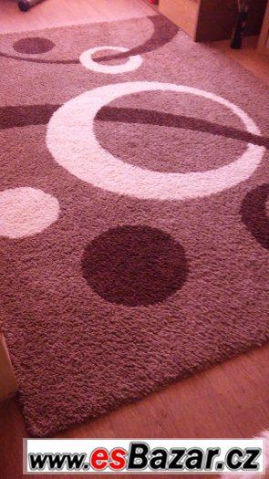 Moderní koberec vzor Shaggy vyšší chlup-velký rozměr 280X200