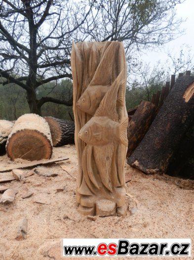 socha na zahradu, zahradní dekorace,dřevěná socha