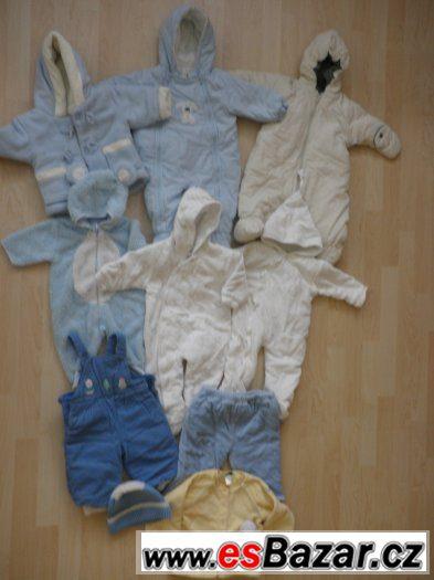 Nádherná zimní výbava pro miminko - vel. 0 - 4 měsíce